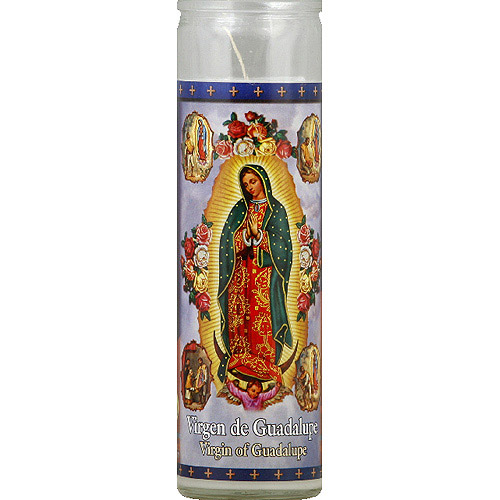 St. Jude Candle Company Virgin of Guadalupe White Candle, 8.1 oz, (Pack of 12)