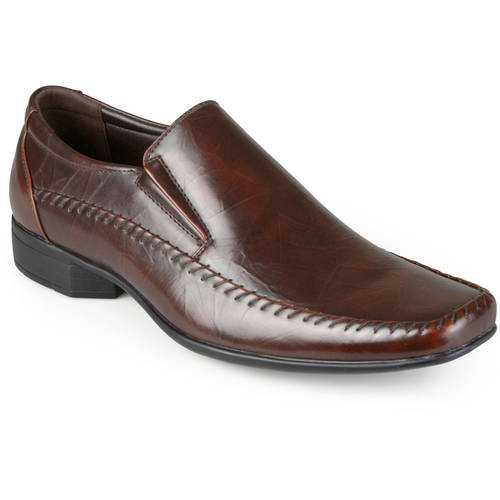Daxx Mens Faux Leather Slip-on Square Toe Loafers