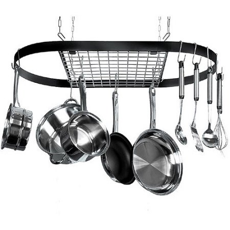 12-Hook Ceiling Mounted Pot Rack, Iron by OCDAY