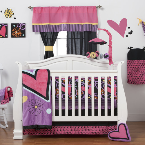 One Grace Place Sassy Shaylee Pink 8-piece Crib Bedding Set