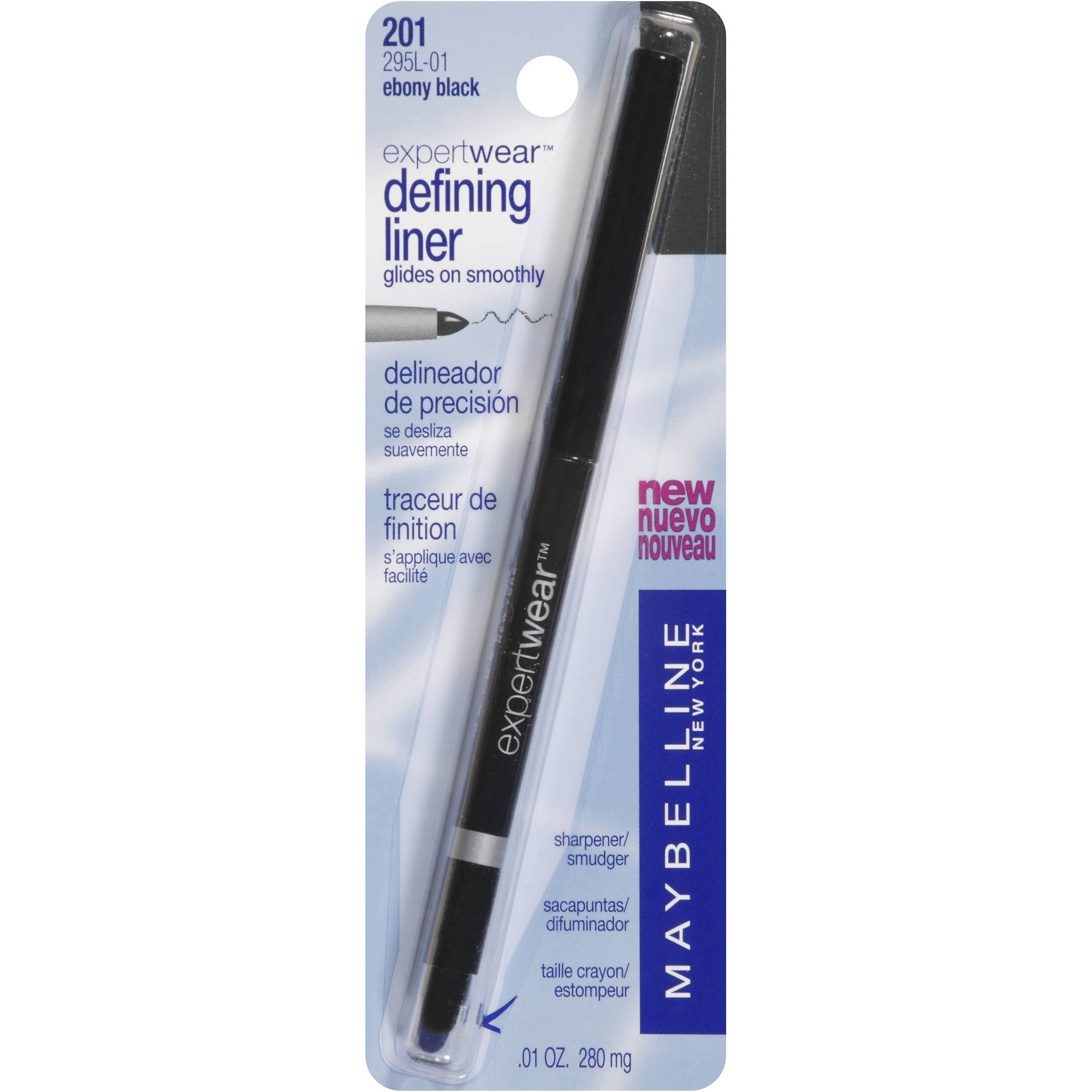 Maybelline Expert Wear Defining Liner, 201 Ebony Black, 0.01 oz