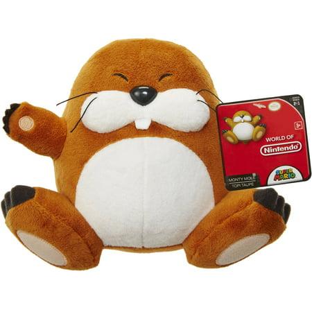 Mario Bros U Plush Monty Mole
