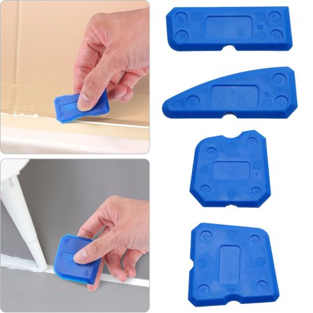 TSV 4 Pieces Caulk Tool Kit Sealant Remover Scraper Caulk Finishing Tools for Joint Sealant Silicone Grout Removing