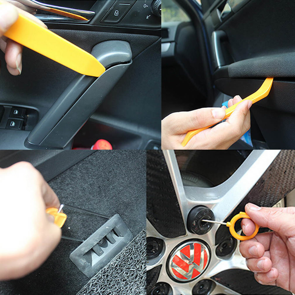 Automobile Radio Panel Door Clip Trim Dash Removal Installer Pry Repair Tool Set 12pcs/set Car Panel Removal Tools