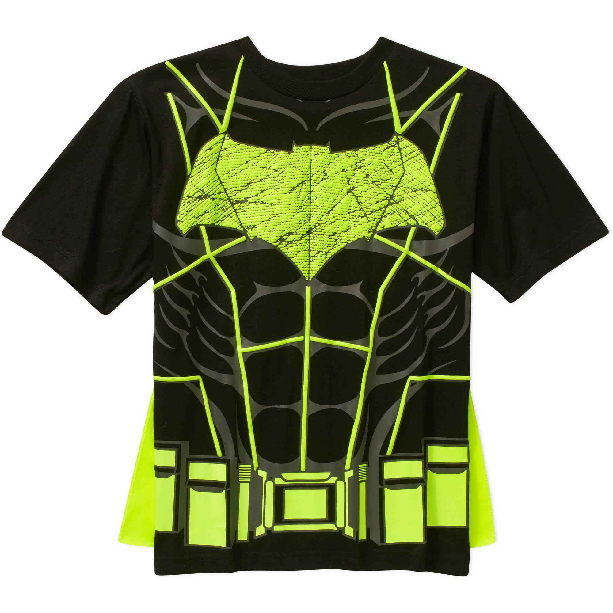 DC Comics Batman Boys Short Sleeve Cape Graphic Tee