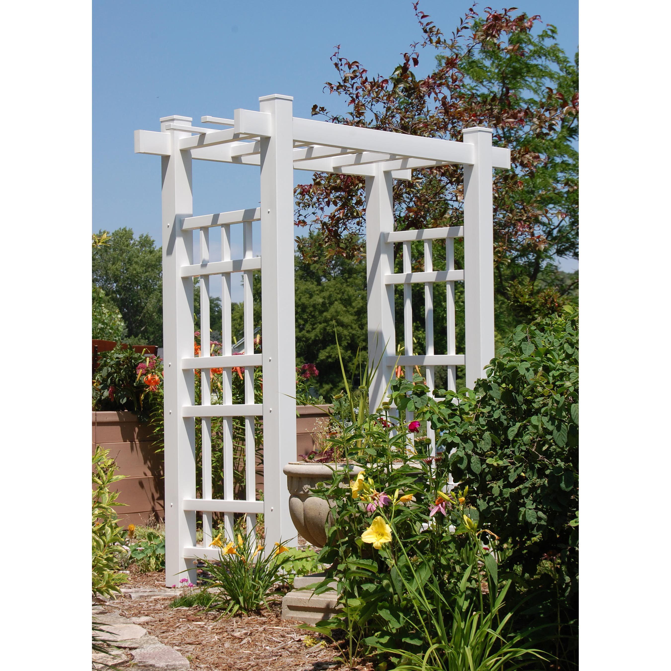 Dura-Trel Windsor 7-ft. Vinyl Pergola Arbor by Dura-Trel
