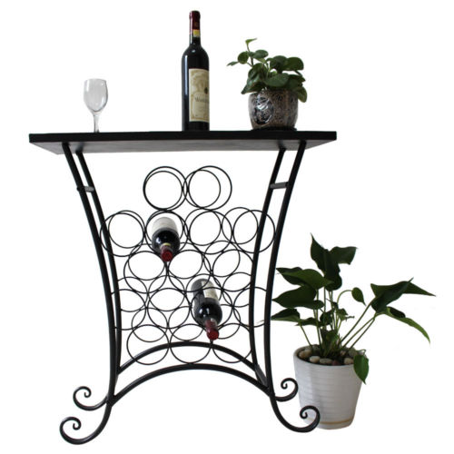 Wine 16 Bottle Racks Table Mosaic Tile Holder Storage Bar...