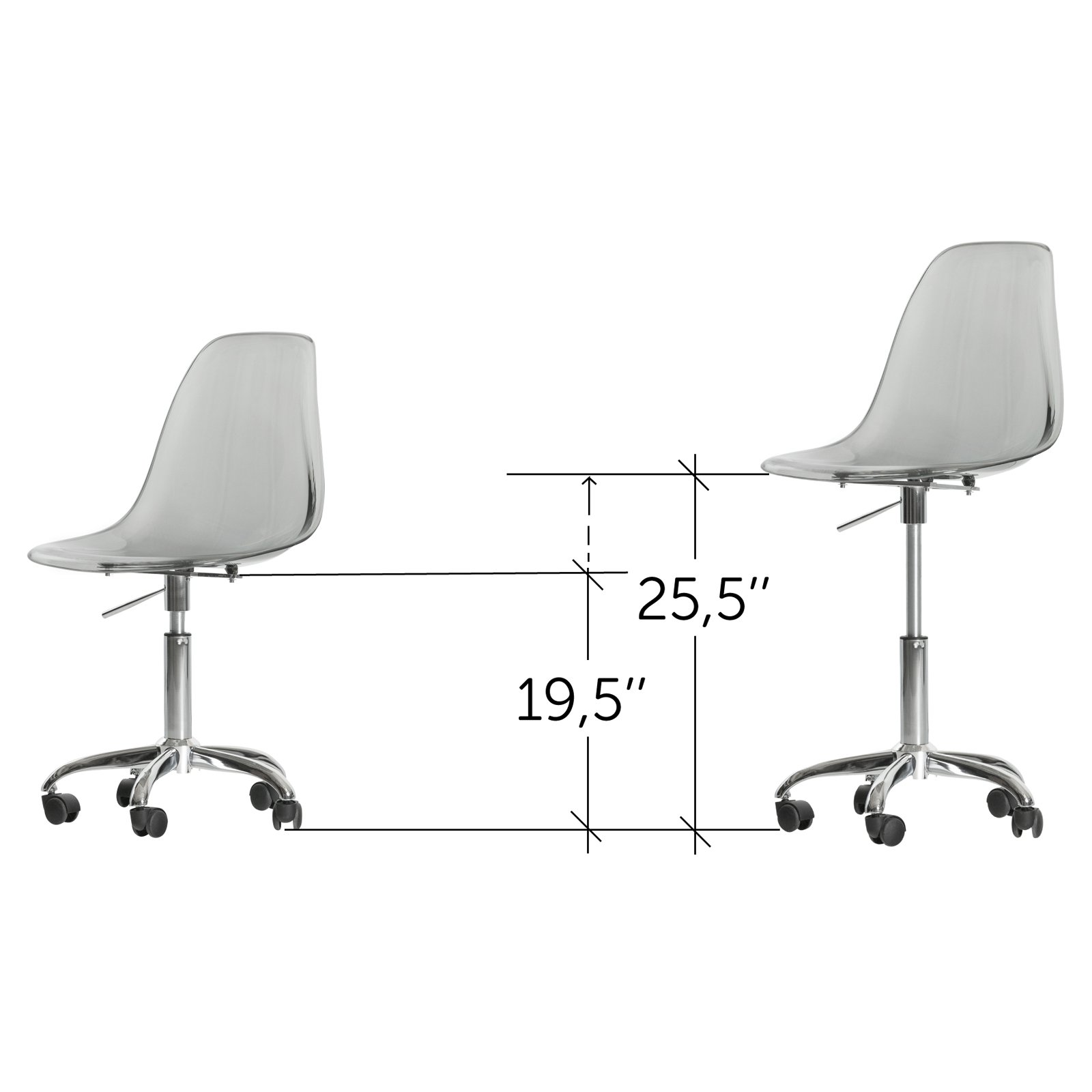 Swell South Shore Annexe Clear Office Chair With Wheels Multiple Forskolin Free Trial Chair Design Images Forskolin Free Trialorg