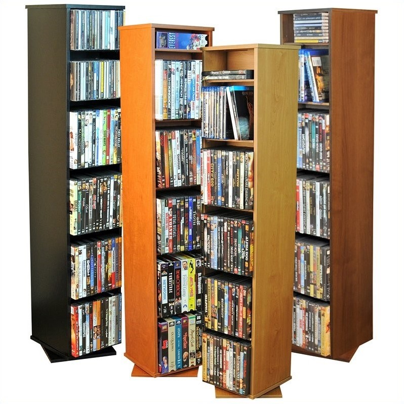 "Venture Horizon 48"" CD DVD Revolving Media Tower-Oak"