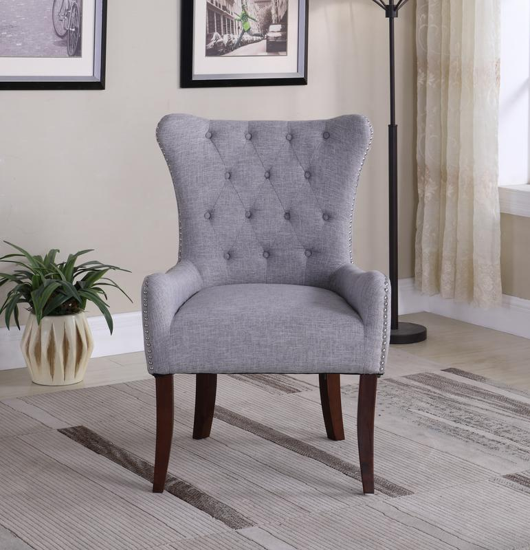 Porter Accent Chair Walmart In Store: Button Tufted Elegant Accent Chair, Gray