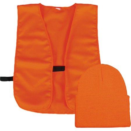 Outdoor Cap Company Knit Watch Cap And Vest Combo Blaze ()