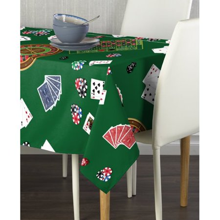 Red Barrel Studio Fludd Casino Night Milliken Signature Tablecloth for $<!---->