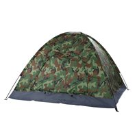 Zimtown Outdoor 3-4 Person Camping Tent Camouflage w/ Carrying Bag