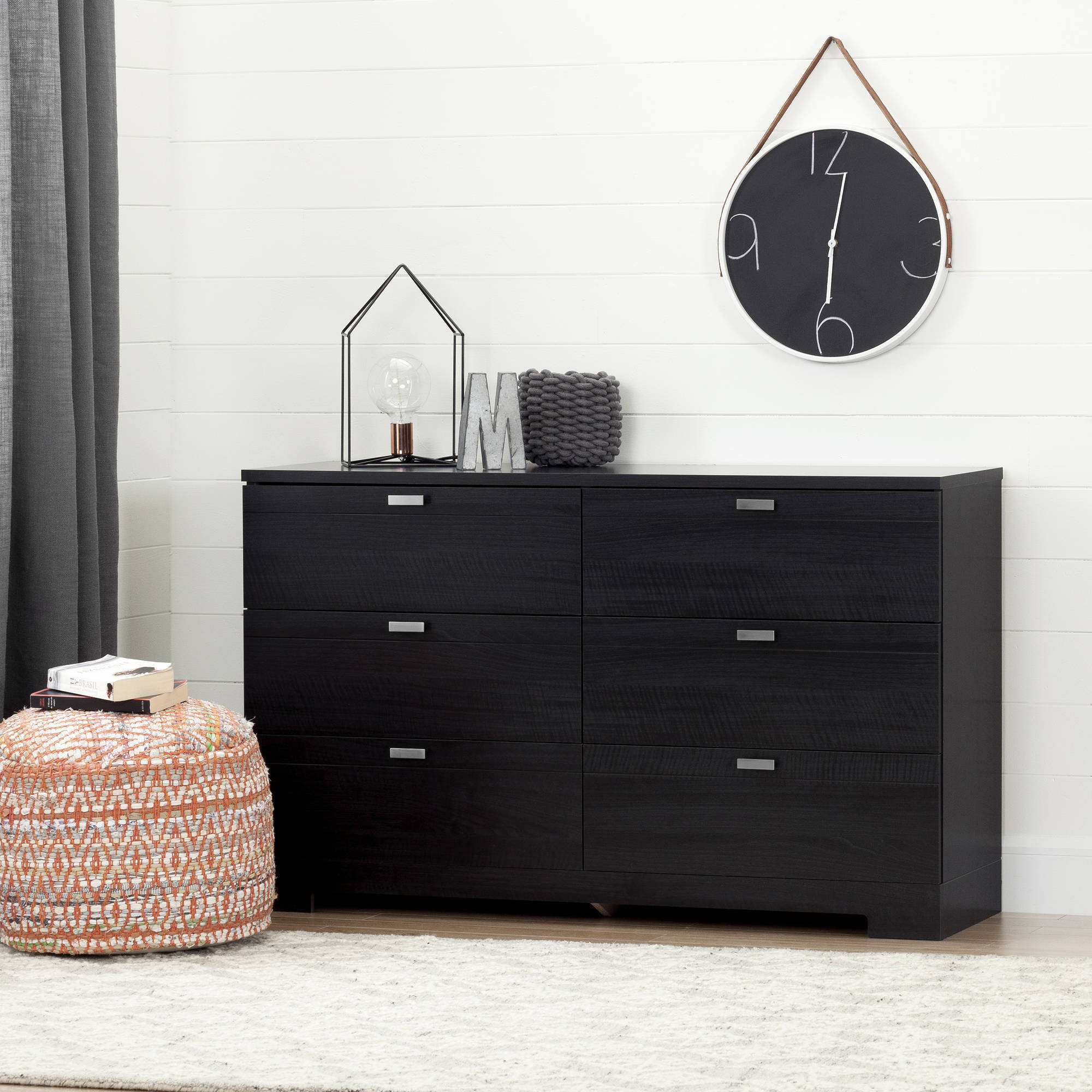 South Shore Reevo 6-Drawer Double Dresser, Multiple Finishes