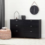 South S Reevo 6 Drawer Double Dresser Multiple Finishes