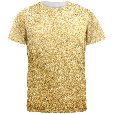 Faux Gold Glitter All Over Mens T - Mens Multi Stripe Shirt
