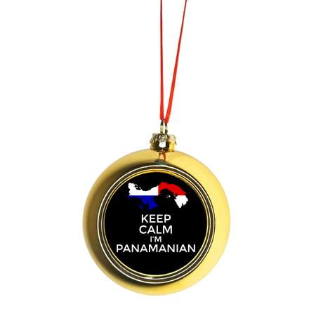 Keep Calm I M Panamanian Flag Panama Gold Bauble Christmas Ornament Ball Tree Decor Walmart Com Walmart Com