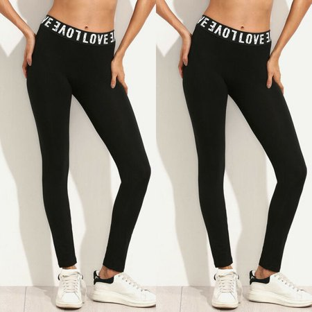 New Fashion 2019 Hot Women Casual Workout Fitness Leggings Women Stretch Leggings Black Size