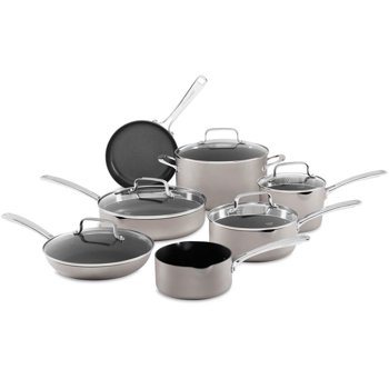 12-Piece KitchenAid Nonstick Anodized Aluminum Cookware Set