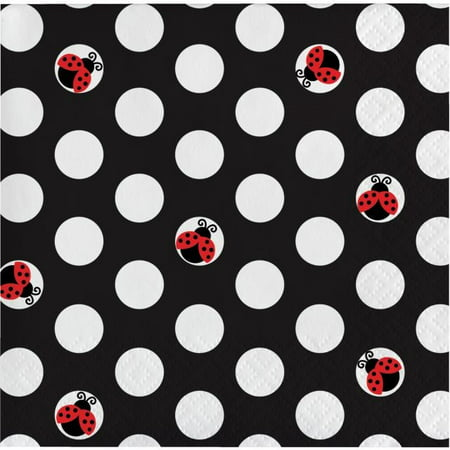 Party Creations Ladybug Fancy Beverage Napkins, 16 Ct - Lady Bug Party