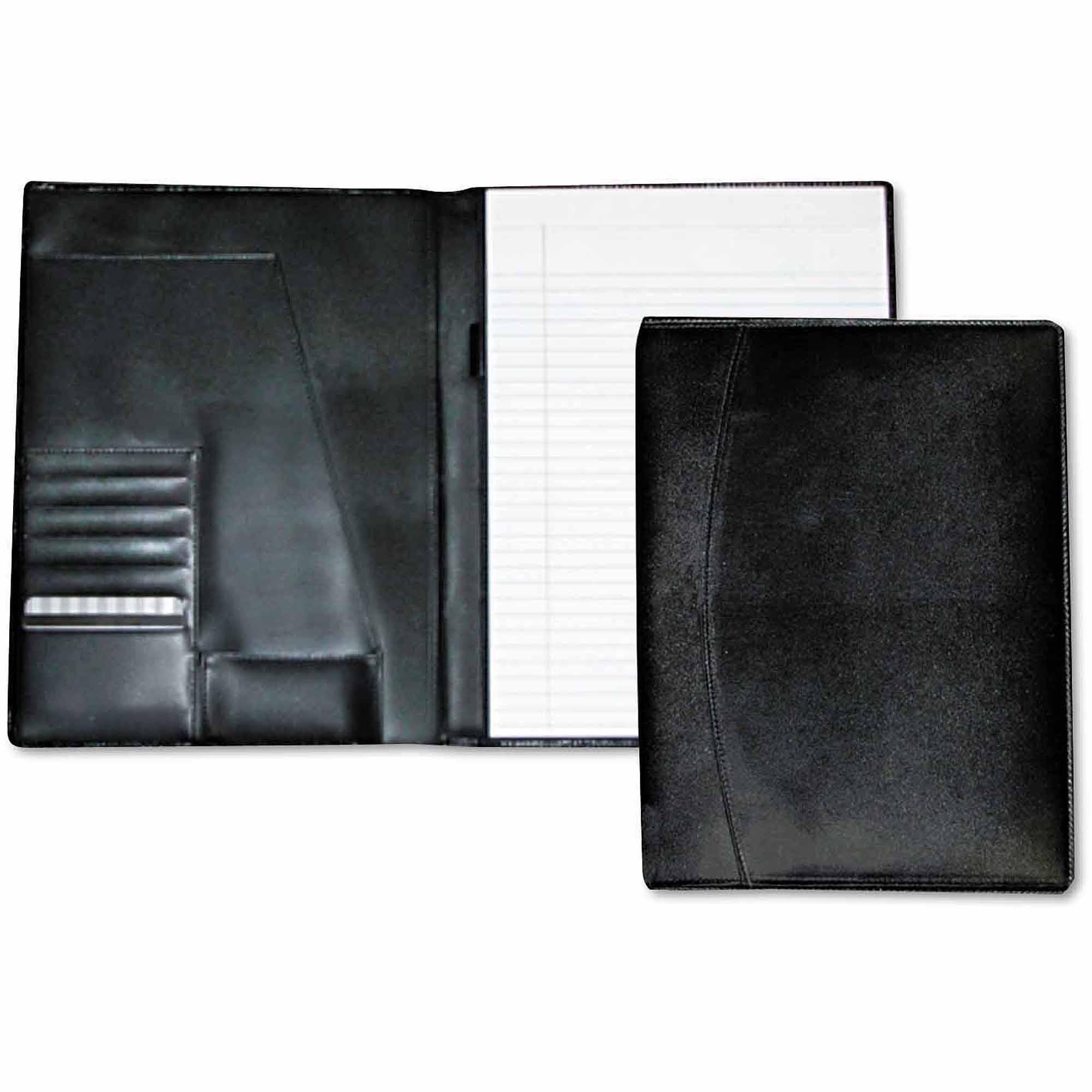 "Buxton Men's Classic Pad Folio/Writing Pad, 8-1/2"" x 11"", Black"