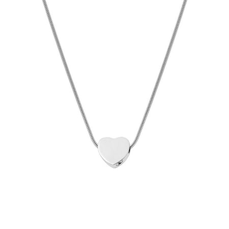 Silver Mini Heart Pendant for Cremation Ashes Memorial Necklace Cremation Urn Necklace for Ashes Keepsake Memorial Jewelry Free Funnel Kit and Velvet Jewelry (Felis Mini Pendant)
