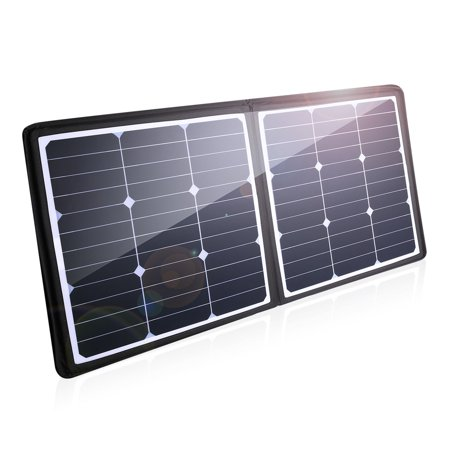 Poweradd 50W Solar Charger 18V 12V Solar Power Bank Sunpower Solar Panel for Laptop Generator ChargerCenter Smartphone