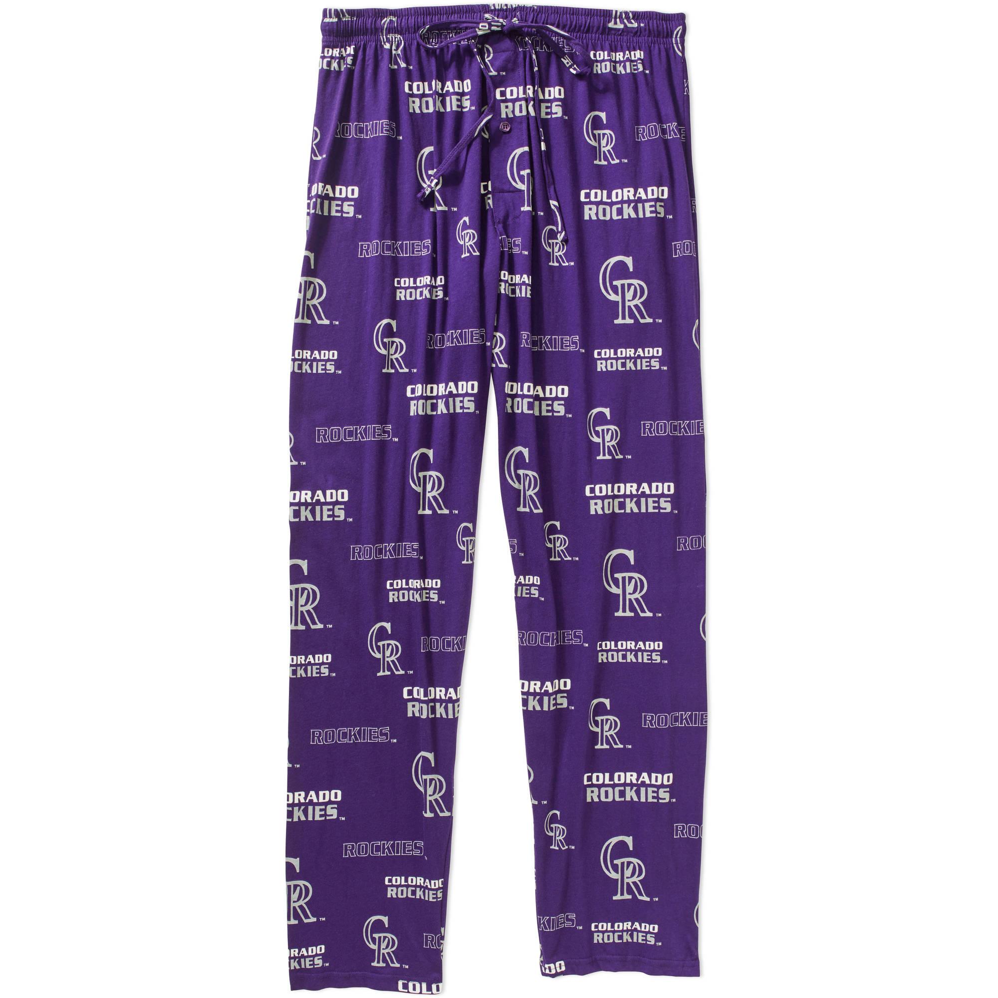MLB Men's Colorado Rockies Knit Sleep Pants
