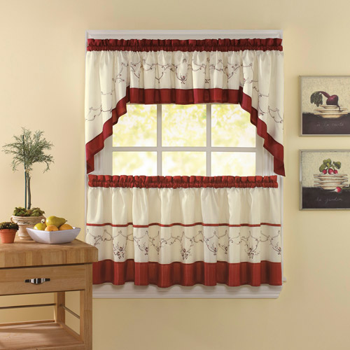 Chf & You Grace Kitchen Curtains, Set Of 2 - Walmart.Com