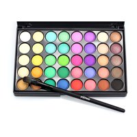 URHOMEPRO 40 Colors Eyeshadow Palette with Shine and Matte, Makeup Brushes, Makeup Colors Eye Shadow Durable Professional Eye Makeup Palette for Party Makeup Casual Makeup Wedding Makeup, Candy, S5714