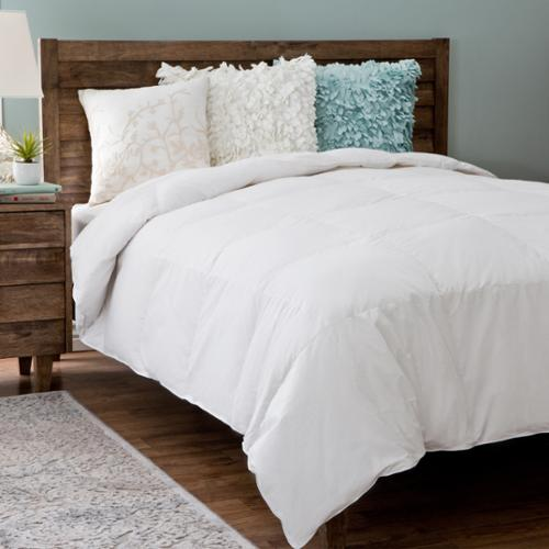 Grandeur Collection Cotton White Goose Down Comforter Twin
