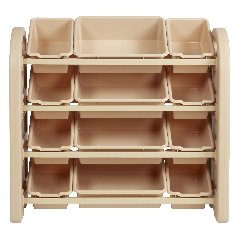 4-Tier Storage Organizer with Sand Bins - Sand