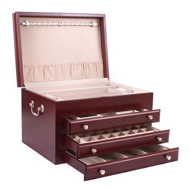 American Chest J03M Majestic Three Drawer Jewelry Wardrobe, Mahogany
