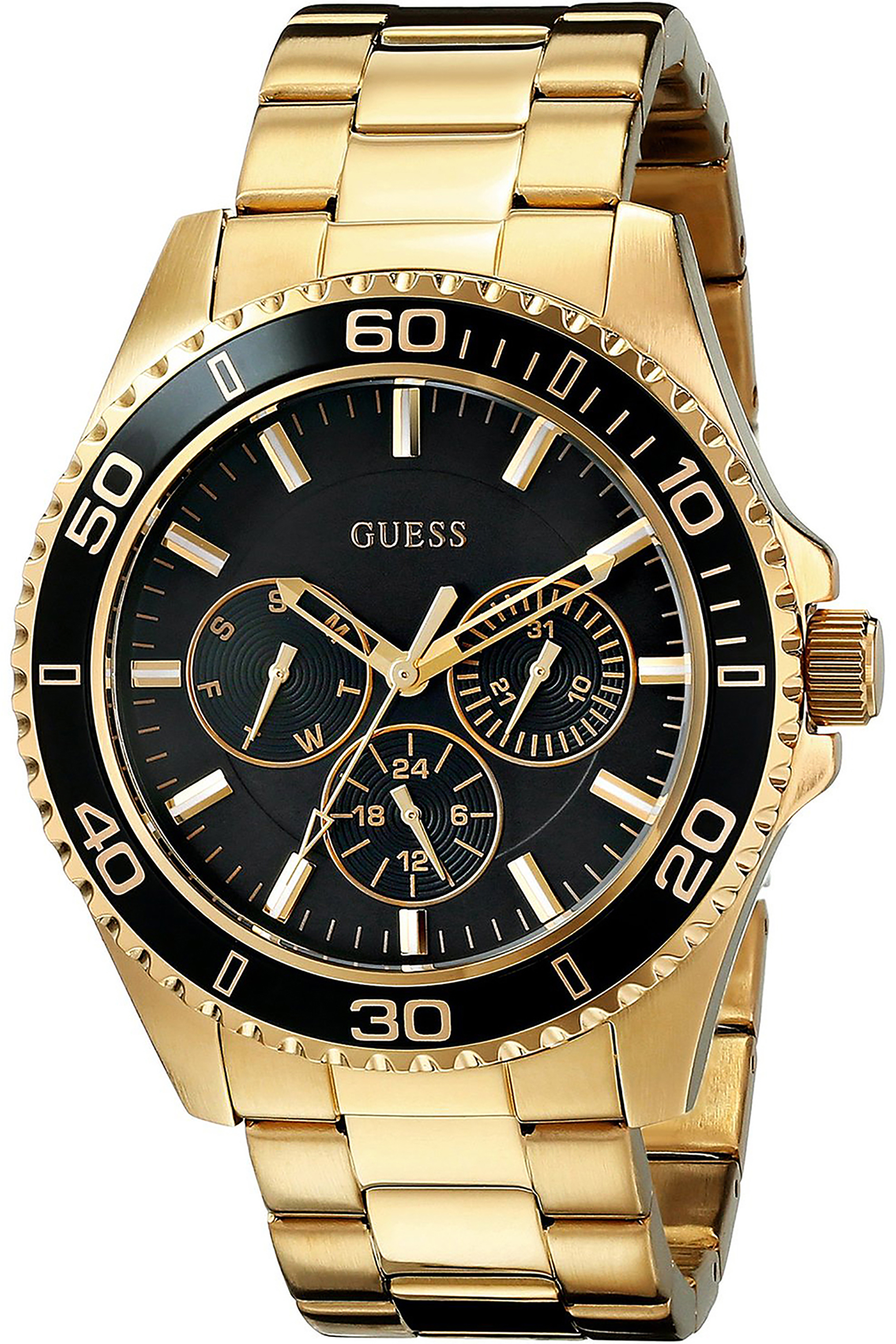 W0231L3,Ladies's Sporty,Stainless Steel case and bracelet,Gold-Tone,Multi-Function,50m WR