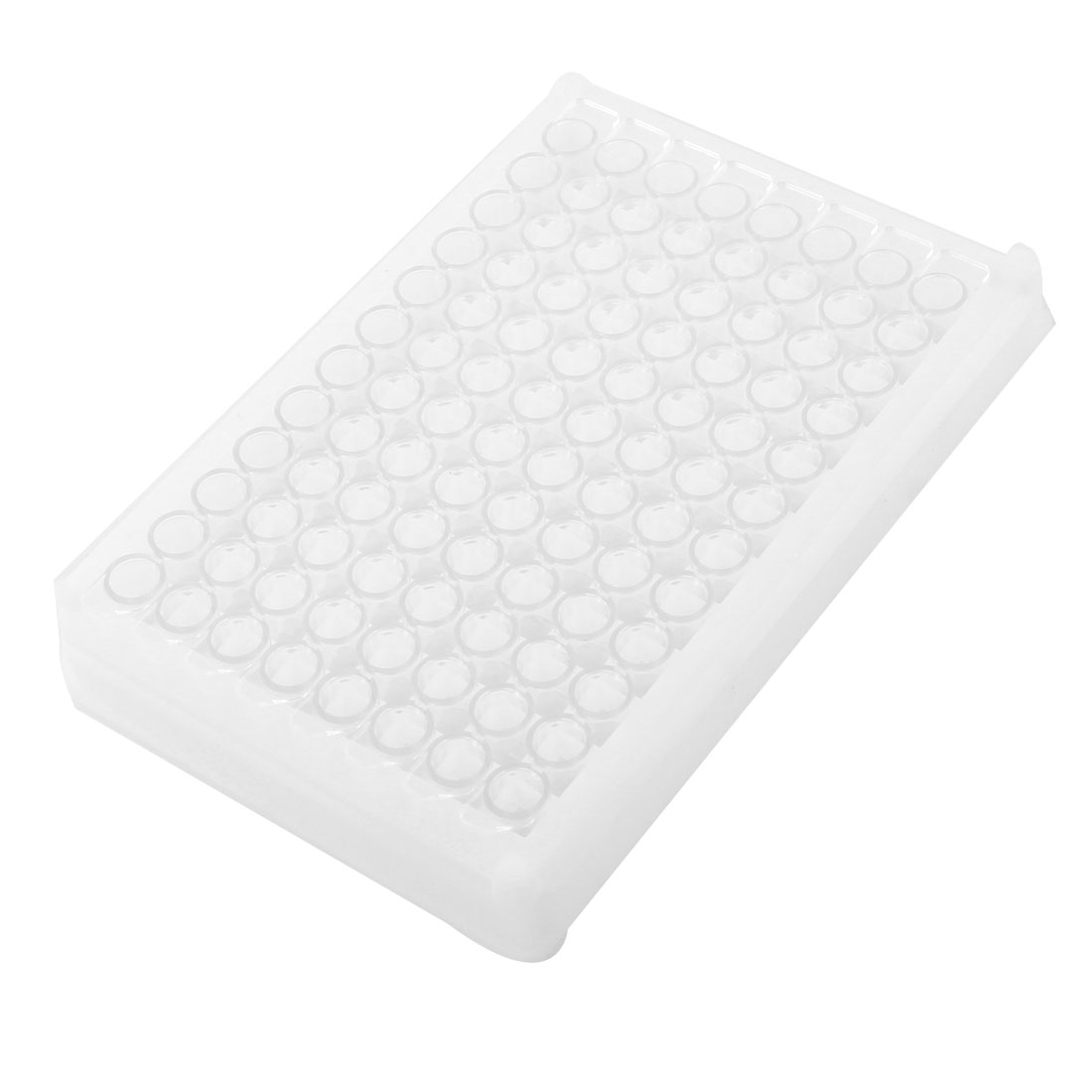 Unique Bargains Chemical Experiment 96 Compartments Medium Binding Elisa Plate White Clear by