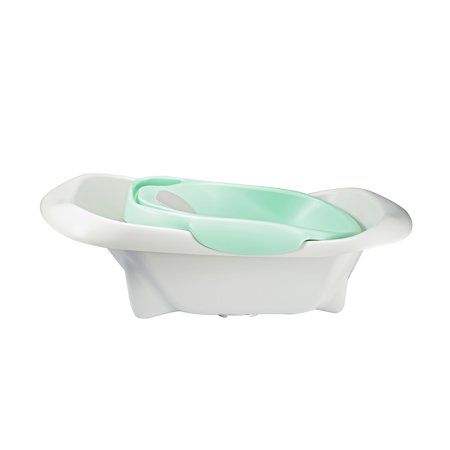 The First Years 4-in-1 Warming Comfort Tub, Newborn to Toddler Baby Bathtub, White