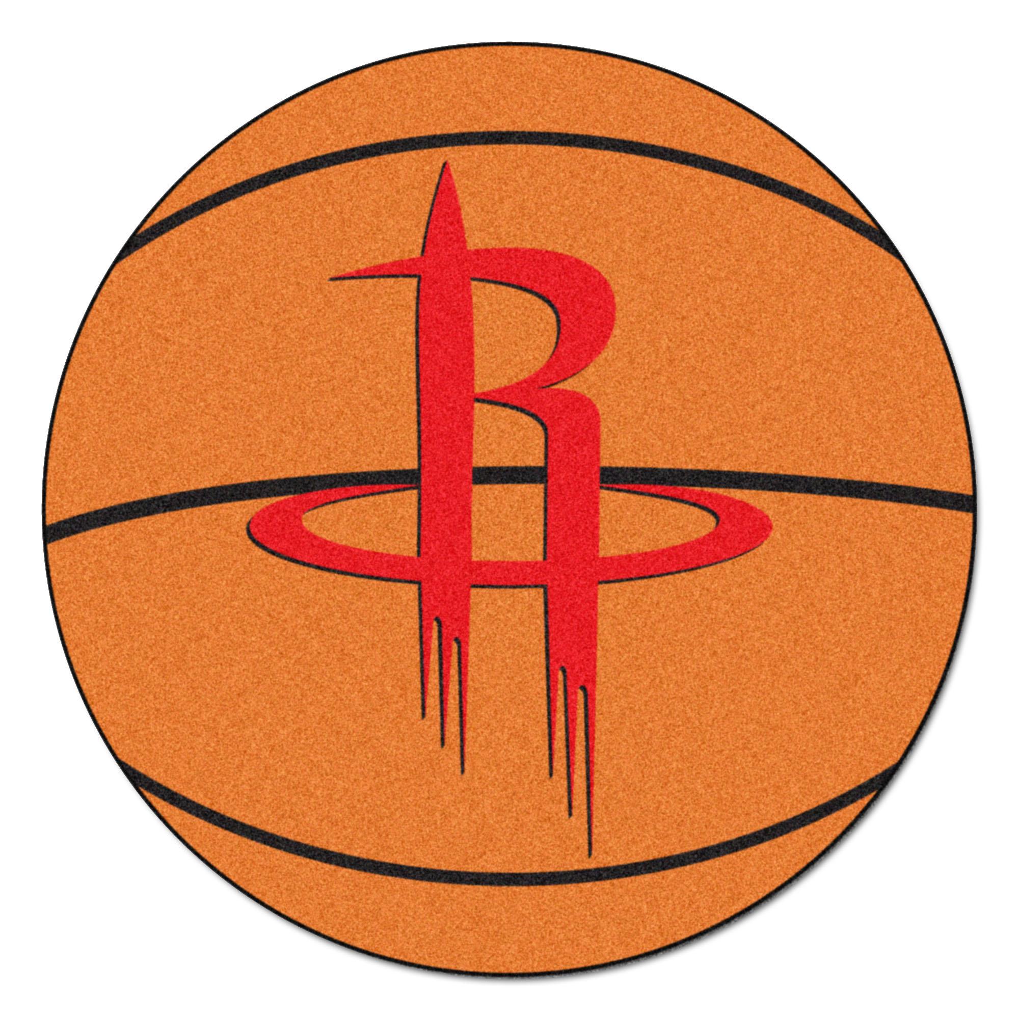 NBA Houston Rockets Basketball Shaped Mat Area Rug
