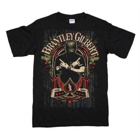 Brantley Gilbert Crossed Arms T-Shirt - Black - -
