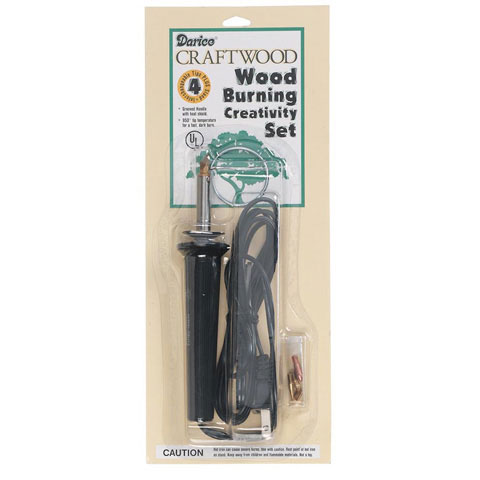 Wood Burning Tool with Accessory Tips - 4 pieces