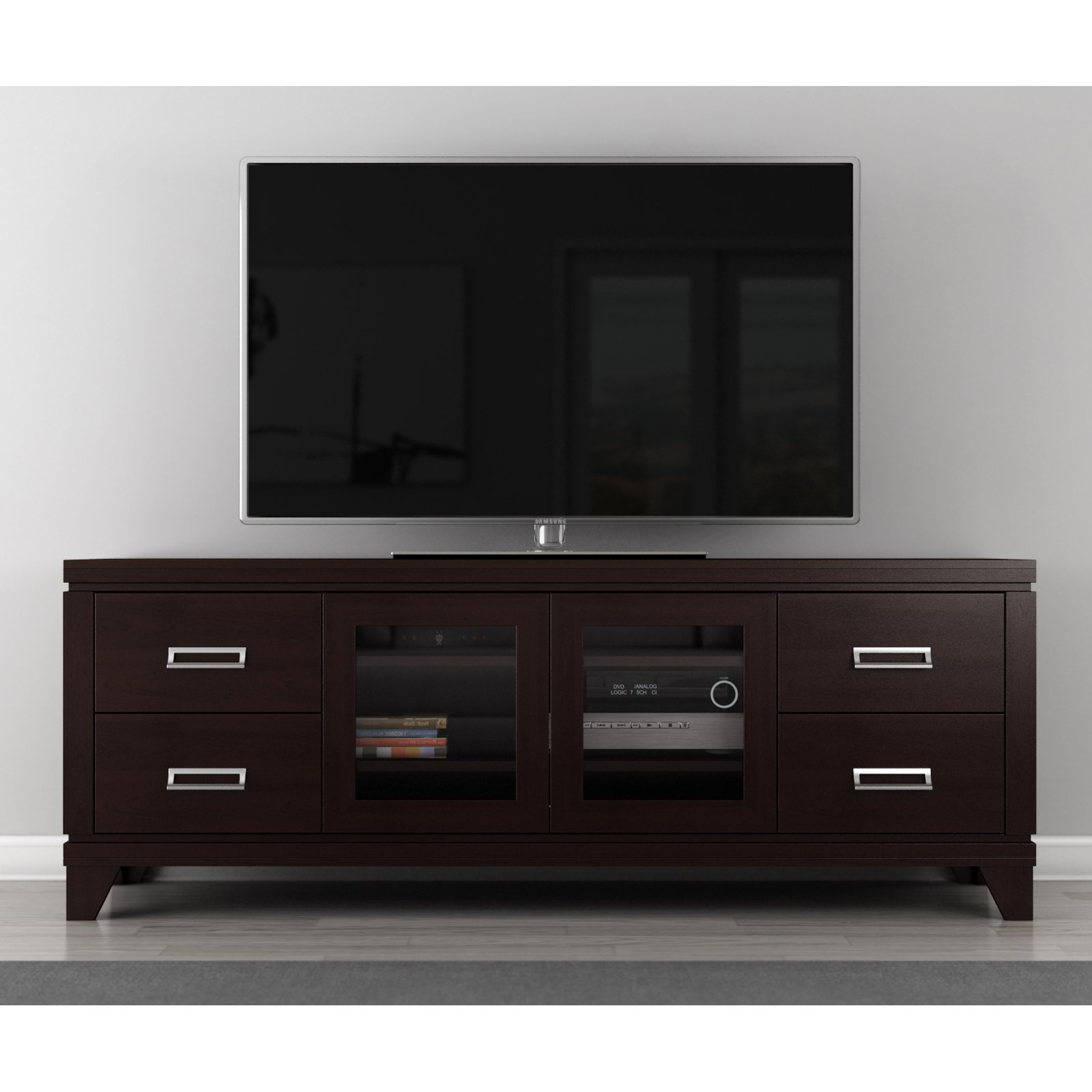 Furnitech Transitional Collection 70 in. TV Stand - Wenge