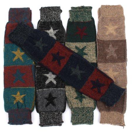 Fashion Women Crochet Knitted Stocking Leg Warmers Boot Cover Trim Legging - Crochet Boot Socks