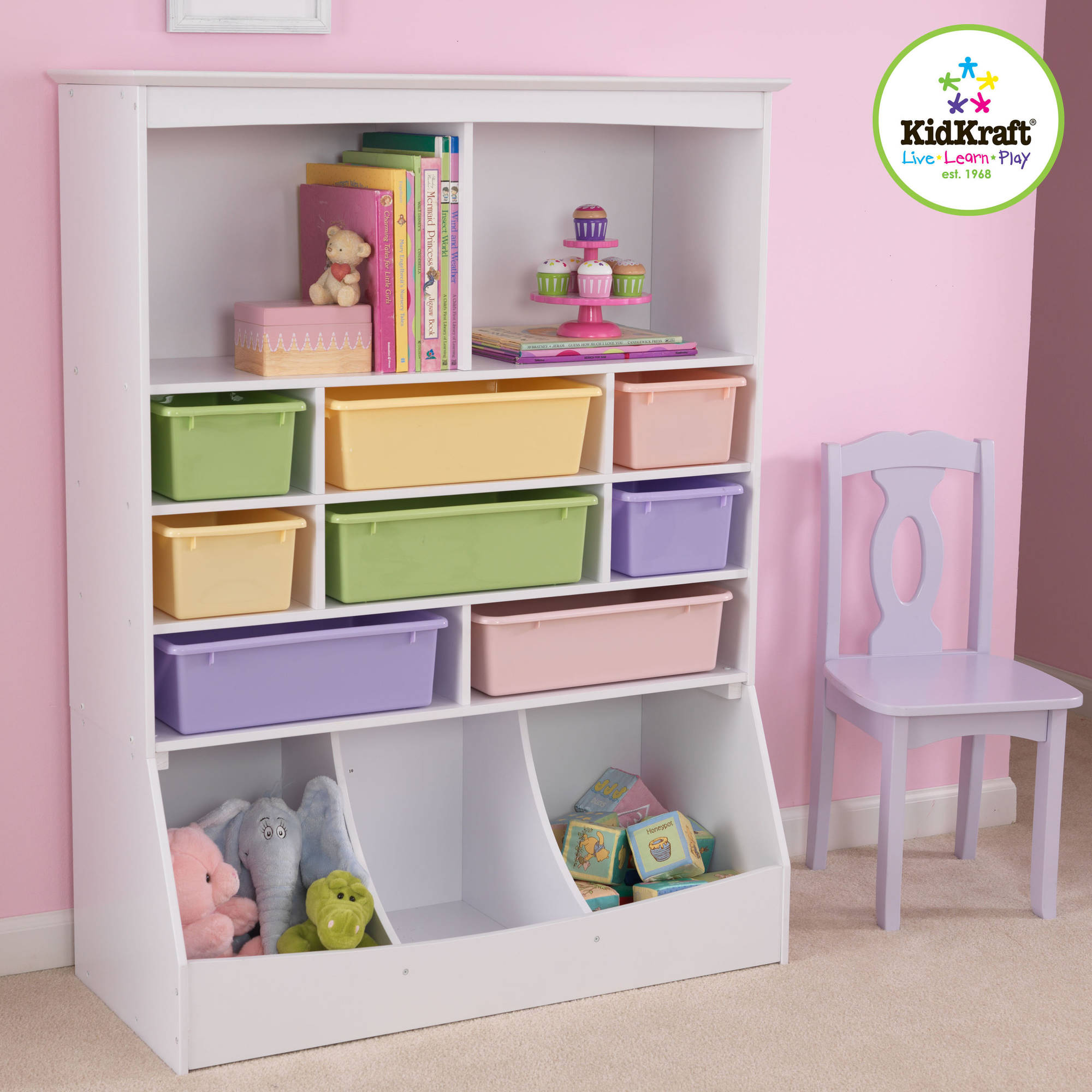 Kidkraft Wall Storage Unit, Multiple Colors