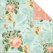 "Time To Flourish Double-Sided Cardstock 12""X12""-June Flourish"