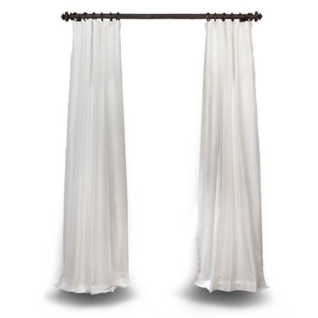 Eggshell 108 x 50 In. Faux Silk Taffeta Single Curtain Panel