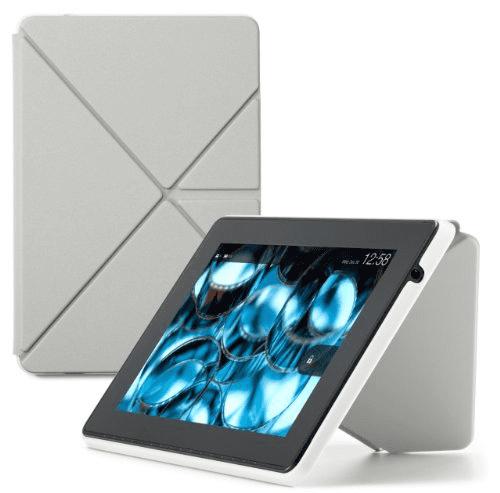 Amazon Kindle Fire HD Standing Polyurethane Origami Case,...