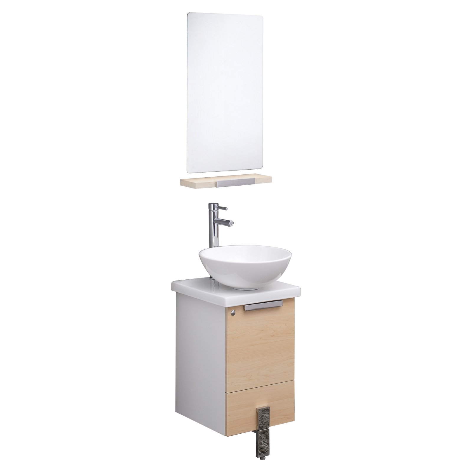 Fresca Fvn8110 Adour 16 In Wall Mounted Single Bathroom Vanity Set Walmart Com Walmart Com