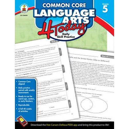 Daily Language Practice Book (Common Core Language Arts 4 Today, Grade 5 : Daily Skill Practice)