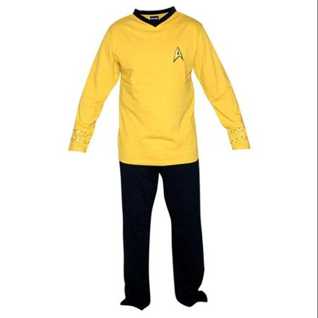 Unisex-Adult Star Trek Kirk Pajamas - Command Officer Yellow