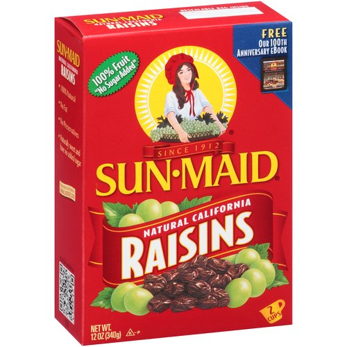 Sun-Maid Natural California Raisins, 12 oz
