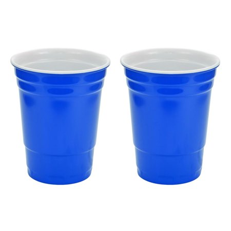 - Blue Hard Plastic Cup 16oz - 2 Pack